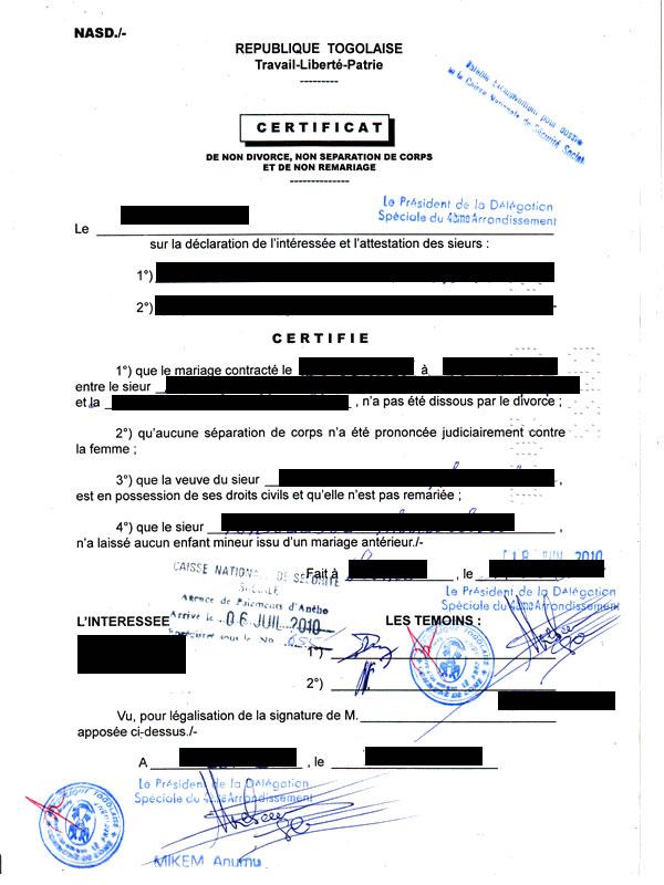 Eregulations togo - Certificat d origine chambre de commerce ...